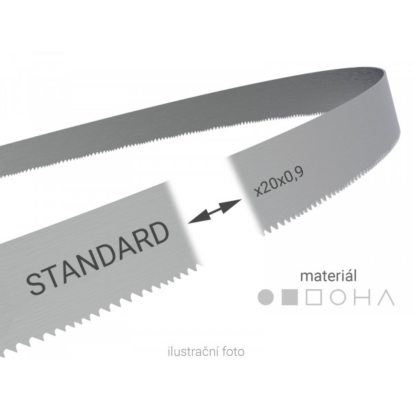 Pilový pás svařovaný na míru Wikus STANDARD 20x0,9mm