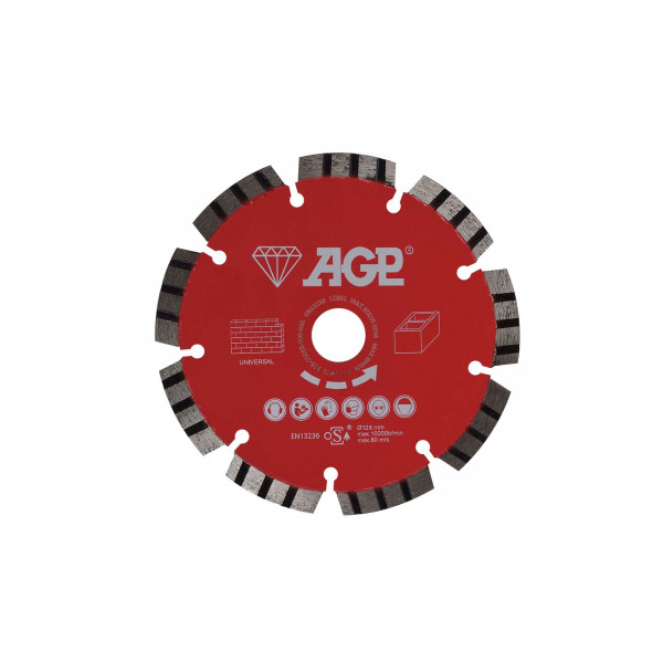 Diamantový řezný kotouč 125mm pro AGP CG125