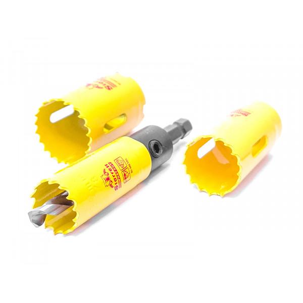 Vykružovací vrták korunkový (Ø14 až 30mm, hloubka 41mm) HSS, Starrett FAST CUT