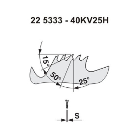 Pilový kotouč na dřevo 5333 - 40KV25° HANIBAL