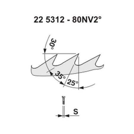 Pilový kotouč na dřevo 5312 – 80NV25°