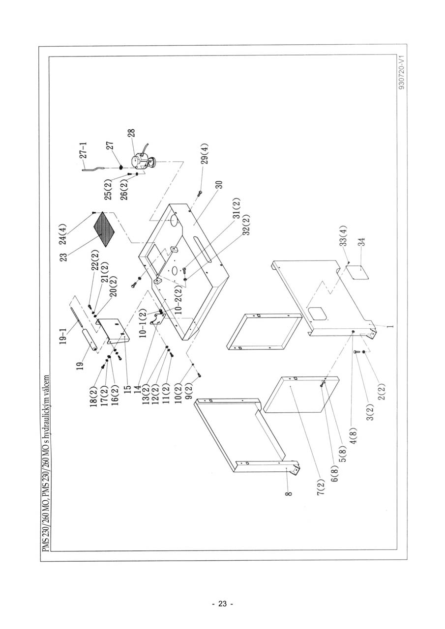 PMS-230-260-MO (seznam-dilu)